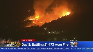 Download Crews Make Progress Against Arson-Sparked Holy Fire Video
