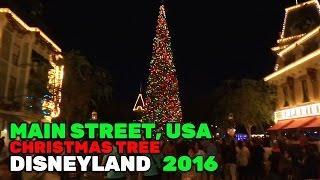 Download Main Street, USA Christmas tree lights during 2016 holiday season at Disneyland Video