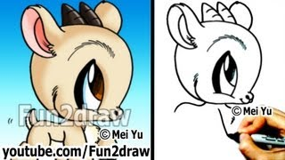 Download How to Draw Easy Stuff - How to Draw Animals - Goat - Cute Drawings - Fun2draw Video