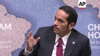 Download Qatari FM defends ties with Iran in UK speech Video