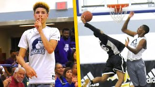 Download LaMelo Ball Shushes Crowd With Three After Nasty Dunk By Marsei Caston Video