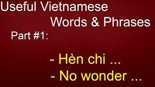 Download Useful Vietnamese Words & Phrases - Part #1: hèn chi (no wonder) Video
