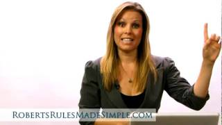 Download Robert's Rules of Order - How to Be an Effective Chair (What to say when...) Video