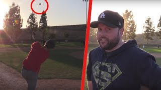 Download I HIT A 600FT HOMERUN AGAINST DODGERFILMS AND THE SOFTBALL CREW! Video