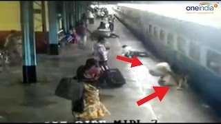 Download Maharashtra cop saves woman from fatal accident at railway station, Watch Video | Oneindia News Video
