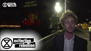 Download Greta Thumberg's 'How Dare You' Speech Projected onto the UK Parliament | Extinction Rebellion Video