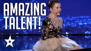 Download Girl With No Arms Sings & Plays Piano With Her Feet | Romania's Got Talent | Got Talent Global Video