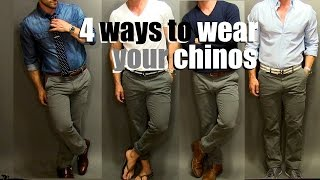 Download 4 Ways To Wear Your Chinos | A Chino Tutorial Video