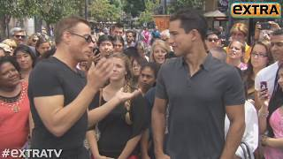 Download Jean-Claude Van Damme Shows Off His Moves at The Grove! Video