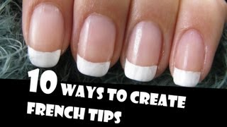 Download 10 WAYS TO CREATE FRENCH TIPS MANICURES | GIVEAWAY WINNERS | HOW TO BASICS | NAIL ART Video
