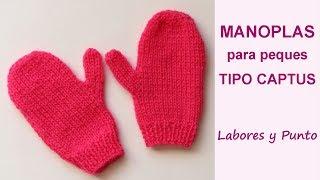 Download Como tejer manoplas tipo captus a dos agujas-para niños- Labores y Punto Video