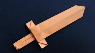 Download How to make a cool origami paper sword Video