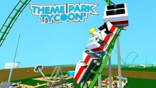 Download Roblox / Theme Park Tycoon 2 / Building My First Roller Coaster / Gamer Chad Plays Video