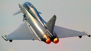 Download RAF Typhoon: Takeoff, Aerobatic Airshow Display & Landing @ BIAS - Afterburner + High Speed Video
