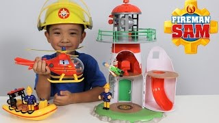 Download Fireman Sam Lighthouse Playset Toys Unboxing Fun With Wallaby Neptune Ckn Toys Video