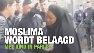 Download Moslima met kind wordt belaagd door politie in Parijs Video