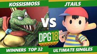 Download Smash Ultimate Tournament - Jtails (Ness, Snake, Diddy) Vs. KOSSismoss (K Rool) DPOTG18 SSBU WR2 Video
