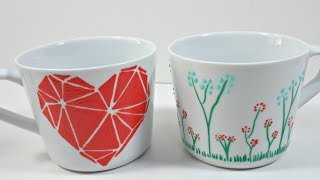 Download Tazas decoradas con pintura para vidrio y porcelana de MP Video