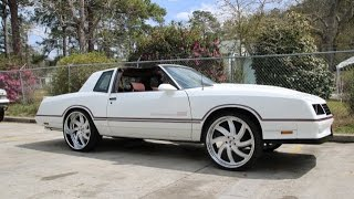Download WhipAddict: 86' Chevrolet Monte Carlo SS T-Top on 24″ Azioni Forgiatos, Custom Car Audio Video