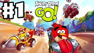 Download Angry Birds Go! Gameplay Walkthrough Part 1 - Red and Stella at the Seedway (iOS, Android) Video