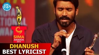 Download Dhanush Best Lyricist@SIIMA 2013 Awards Function Part 3 Video