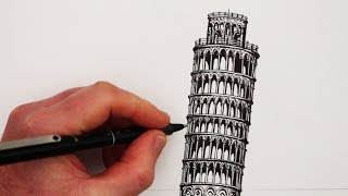 Download How to Draw Famous Buildings: The Leaning Tower of Pisa Video