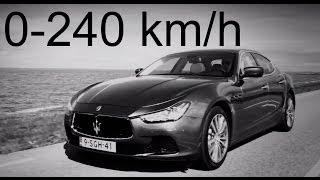 Download Maserati Ghibli S 0-240 km/h Video