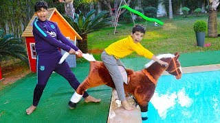 Download Pretend Play with Ride On Horse Toy, and Learn Colors for Toddler Nursery Rhymes Video