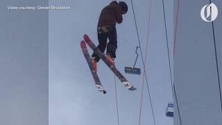 Download Power problem prompts Mt. Hood Meadows to evacuate skiers from chairlift Video