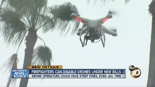 Download Firefighters can disable drones under new bill Video