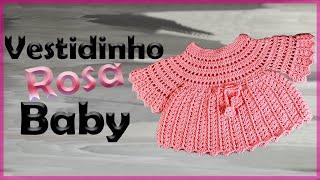 Download Como fazer vestidinho para Bebê (Até 1 ano) - By Lourdes Duarte Crochê Video