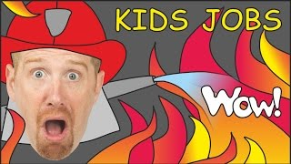 Download Jobs for Kids & Jobs Song from Steve and Maggie | English Stories for Kids Video