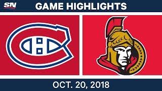 Download NHL Highlights | Canadiens vs. Senators - Oct. 20, 2018 Video