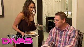 Download Nikki Bella prepares dinner for John Cena: Total Divas, December 1, 2013 Video