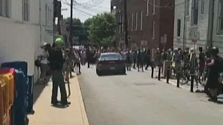 Download Video shows car crashing into Charlottesville protest Video