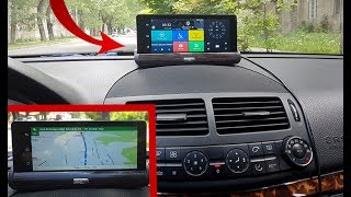 Download Dashboard Camera Android 1080P Dual Camera and GPS, 7 ″IPS screen Bluetooth 3G / Detailed review Video