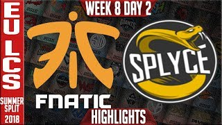 Download FNC vs SPY Highlights | EU LCS summer 2018 Week 8 Day 2 | Fnatic vs Splyce Video