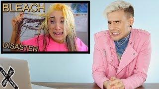 Download HAIRDRESSER REACTS TO MCKENZIE MARIE FRYING HER HAIR WITH BLEACH! |bradmondo Video