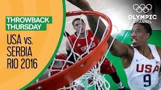 Download USA vs Serbia - Basketball | Rio 2016 - Condensed Game | Throwback Thursday Video