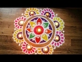 Freehand Diwali rangoli designs with colours