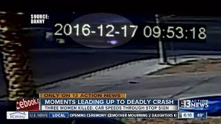 Download Video shows moment car misses stop sign, three women killed Video