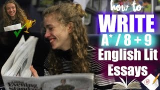 Download Top 10 Tips for How to Write A*/8 & 9 English Literature Essay 2018 // GCSE & A level English Lit Video