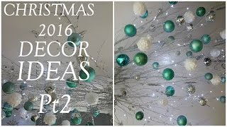 Download Christmas Decor Ideas | CEILING TWIGS AND ORNAMENTS (2016) Video