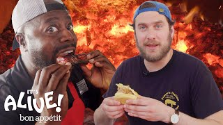 Download Brad Makes Whole Hog BBQ with Rodney Scott | It's Alive | Bon Appétit Video