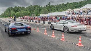 Download Porsche 911 Turbo vs Lamborghini Aventador vs Mercedes C63 AMG Video
