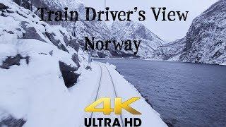 Download Train Driver's View: Bergen - Myrdal on a windy Saturday in February Video