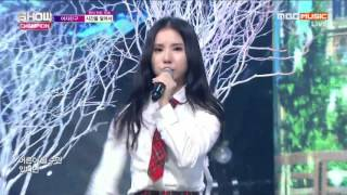 Download [20160203] GFRIEND (여자친구) Intro (SNOWFLAKE) + 시간을 달려서 (Rough) [MBC Show Champion] [Live] [HD] Video