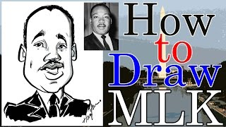 Download How To Draw A Quick Caricature Martin Luther King Jr. Video