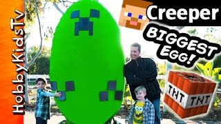 Download Giant Minecraft CREEPER Surprise Egg by HobbyKidsTV Video