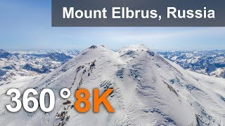 Download 360°, Mount Elbrus, Russia. 8K aerial video Video